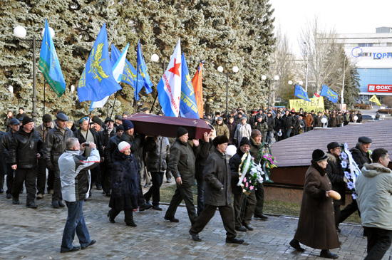 Во время митинга погиб чернобылец