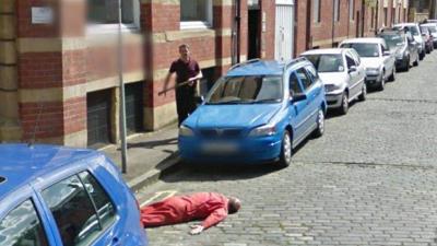 Шуточное убийство на Google street view